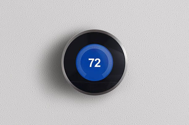 nest thermostat at 72 degrees fahrenheit