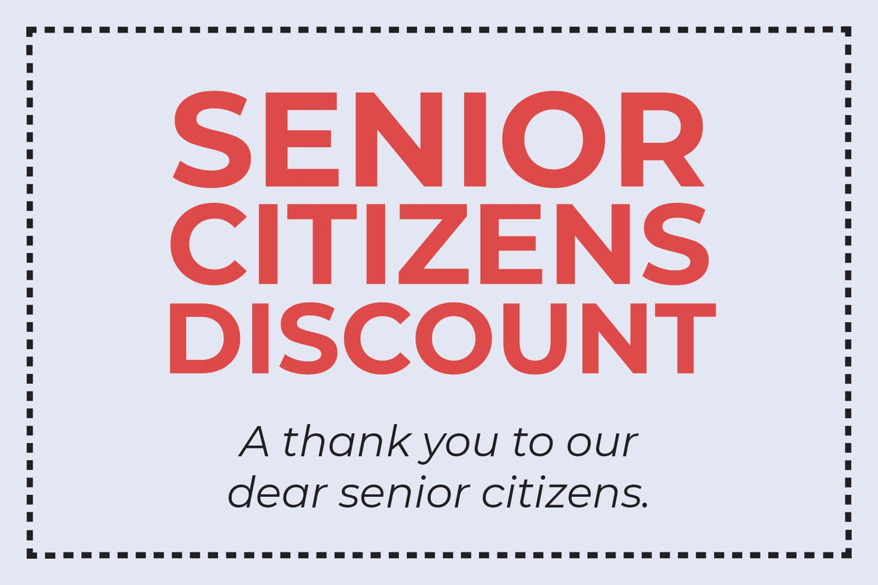 senior citizens discount hvac coupon