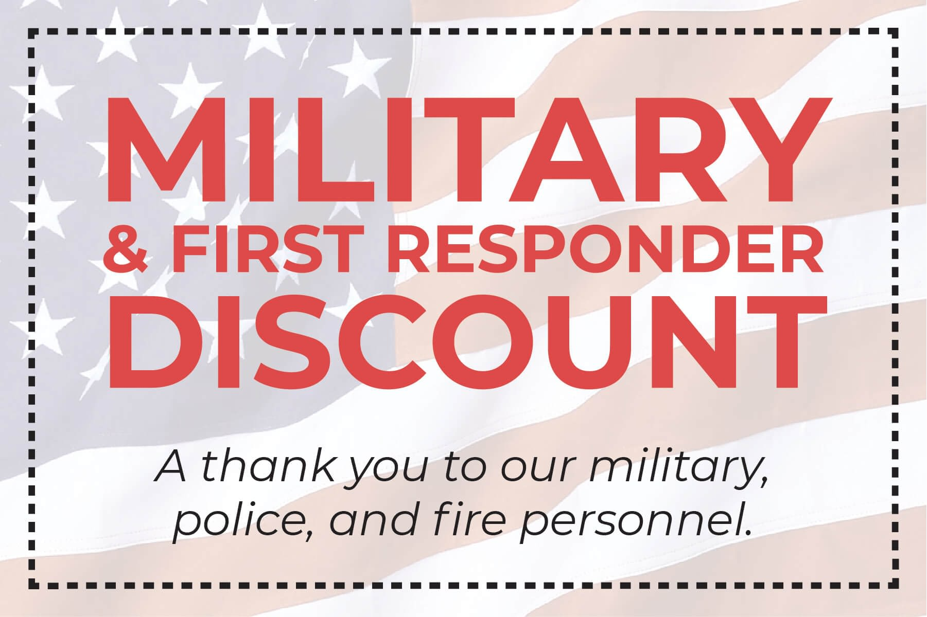 military and first responder hvac discount coupon