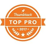 Orange Thumbtack Icon Badge for Top Pro 2017